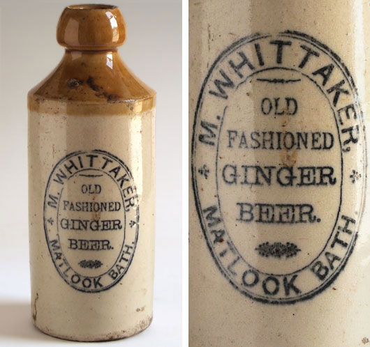 Victorian ginger beer bottle: Whittaker, Matlock