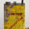 Mid-1900s yellow paraffin oil can: Monitor