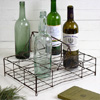 Antique French wirework 12-glass carry rack, c. 1900