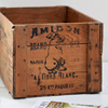 Large antique French starch crate, c. 1900