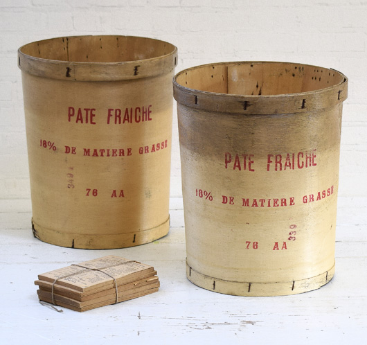 Large vintage French bentwood dough tub