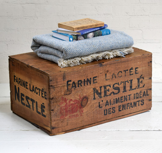 1920s antique French Nestle powdered milk crate