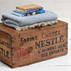 1920s French Nestle powdered milk crate