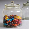 Early-1900s glass sweets jar, large