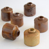 Suite of Victorian stoneware ink bottles
