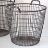 Extra-large metal and wire potato basket, c. 1930s