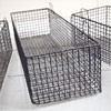 Early-1900s elongated wire storage basket