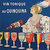1912 French menu cover art: Dubonnet wine
