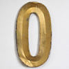 French folded gold-gilt zinc letter 'O', early 1900s