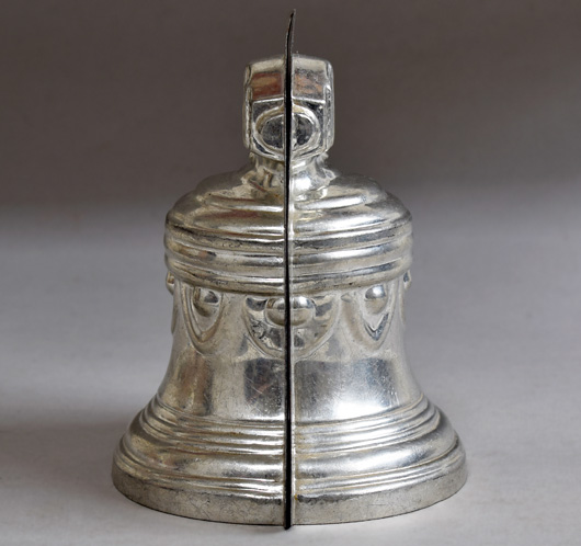 Vintage French cloche bell chocolate mould, early 1900s