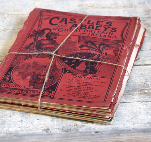 Antique tied magazine bundle: Castles and Abbeys of Great Britain...