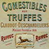 French terrines tin advertising sign, c. 1900
