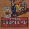 Framed Player's Drumhead Cigarettes advertising panel