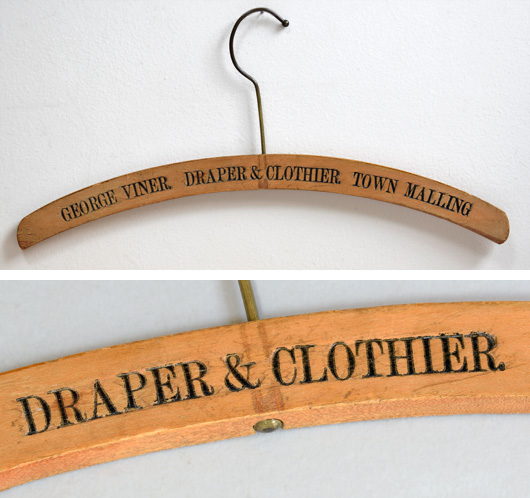Victorian advertising coat hanger: George Viner, Draper, Malling