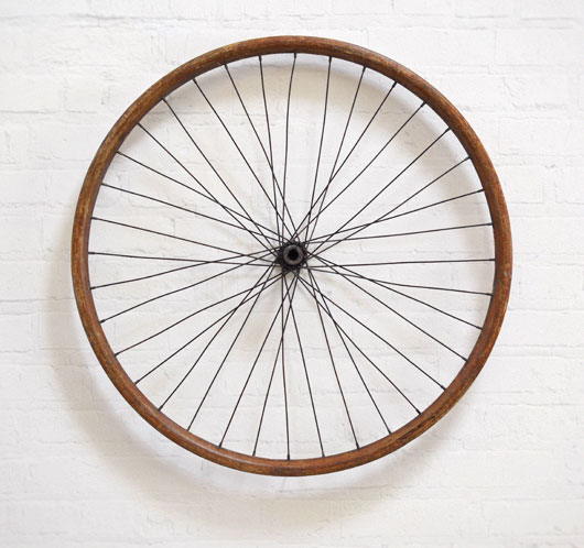 Antique wooden bicycle wheel, c. 1900