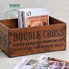 Early-1900s wooden crate: Double Cross