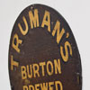 Truman's Brewery barrel lid wall hanging