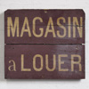 Antique French wooden sign: Shop For Rent