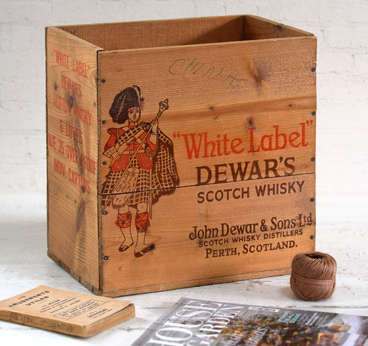 Early-1900s Dewar's Scotch Whisky crate