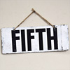 Painted metal livestock prize sign: Fifth