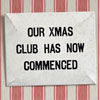 Mid-century tin sign: Our Xmas Club...