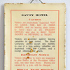 1920s tin Savoy Hotel room sign