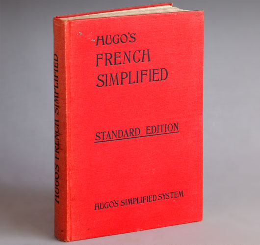 Hugo's French Simplified, vintage hardcover book