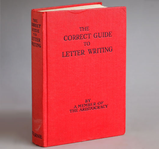 The Correct Guide to Letter Writing, vintage hardcover book