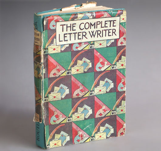 Routledge's The Complete Letter Writer hardcover edition, Arnold Villiers, 1951