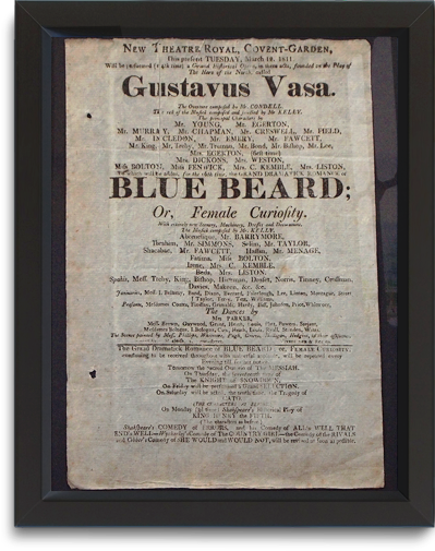 New Theatre Royal Covent Garden playbill, March 12, 1811
