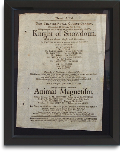 New Theatre Royal Covent Garden playbill, February 5, 1811