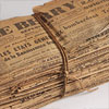 Tied bundle of mid-1940s French Le Berry newspapers