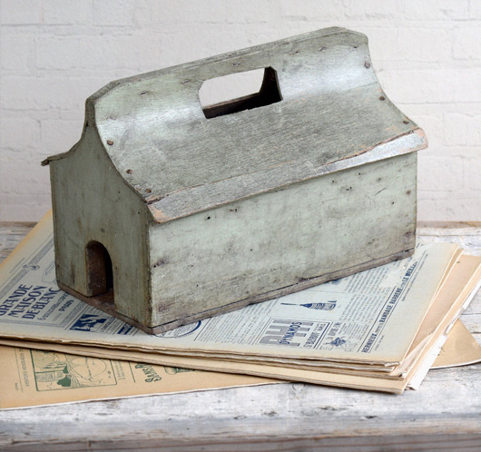 Vintage rustic French home-made birdhouse, mid-1900s