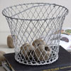 Early-1900s wire egg basket