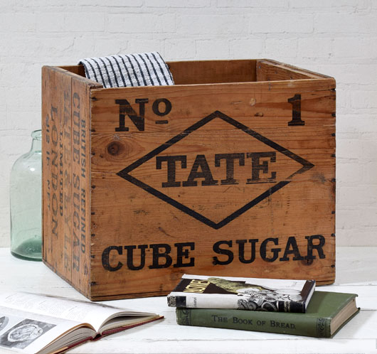 Large vintage Tate Cube Sugar crate, early 1900s