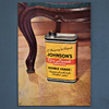1930s tin advertising sign: Johnson's Liquid Wax