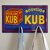 Early-1980s tea towel hooks: Bouillon Kub