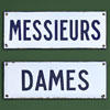 Pair of 1940s French lavatory signs