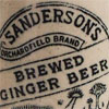 Tall Victorian ginger beer bottle: Sanderson, Edinburgh
