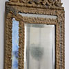 Rare late-1800s French pressed tin wall mirror