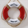 Souvenir passenger liner life ring: S.S. Empress of France