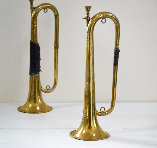 Early-1900s French brass bugle, J.T.L.