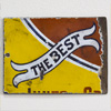 Victorian enamel banner sign: The Best