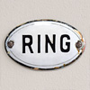 Victorian enamel door bell sign: Ring