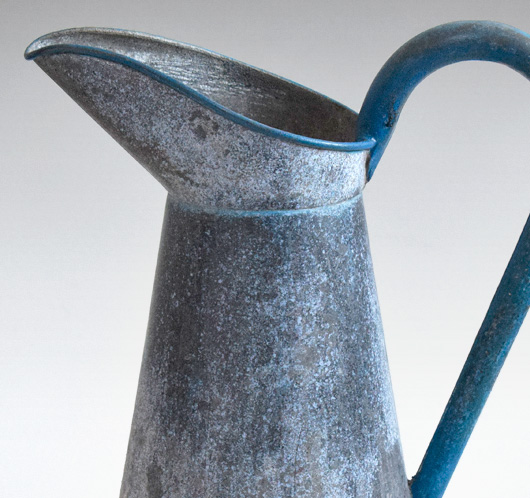 19th-century French zinc water pitcher