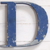 Ex-shop sign painted spelter letter 'D', c.1920s