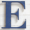 Ex-shop sign painted spelter letter 'E', c.1920s