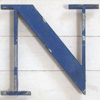 Ex-shop sign painted spelter letter 'N', c.1920s