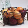 Early-1900s French wirework basket with hanging handles