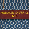 Early-1900s wooden railway station sign: Passenger Enquiries